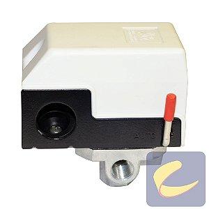 Pressostato 080/120 S/V C/CH C/M 4 Vias BRANCO - Compressores Odonto - Chiaperini