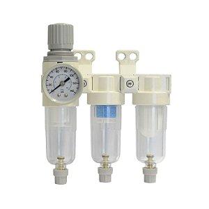 Trifiltro Regulador Odontológico 1/4 polegada - Chiaperini CH TF-300