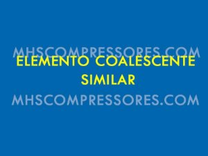 Elementos Coalescentes Filtros De Ar Dd360
