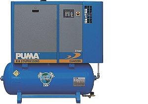 Compressor com secador e reservatório integrado 15cv e 20cv