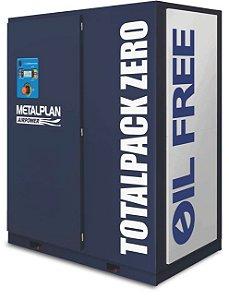Compressor de ar de parafuso TotalPack Zero Isento de óleo