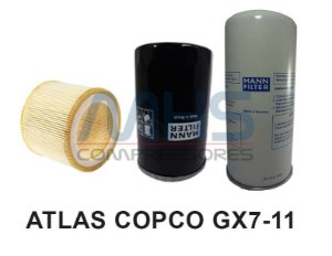 Kit Filtro Compressor Atlas Copco Gx7-11