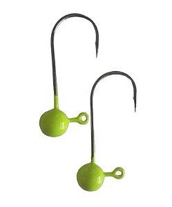 Jig Head Amarelo com 02 Unidades - Juva Pesca