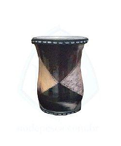 Cuia de Tereré de alumínio revestida com plástico imitando retalhos de couro - 150 ML