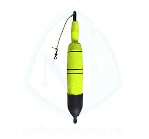 Boia de Arremesso Torpedo 100 gramas Amarelo - Apoio Pesca