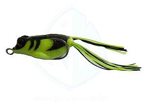Isca Frog Anti Enrosco Preto e Amarelo 4,5cm - 09 gramas