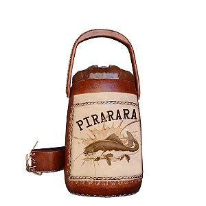 Garrafa Térmica plástico revestida em couro Pirarara 2,5 litros - Toro Rojo