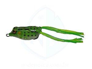 Isca Frog Anti Enrosco Preto e Verde 4,5cm - 09 gramas