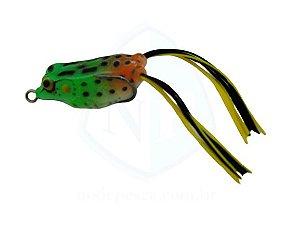 Isca Frog Anti Enrosco Preto Verde e Laranja 4,5cm - 09 gramas