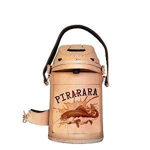 Garrafa Térmica inox revestida em couro Pirarara 2,5 litros - Toro Rojo