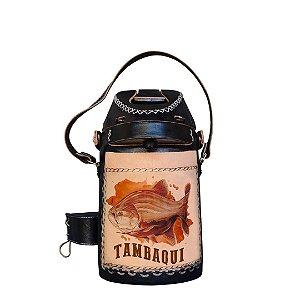 Garrafa Térmica inox revestida em couro Tambaqui 2,5 litros - Toro Rojo