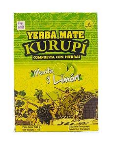 Erva para Tereré sabor Menta y Limão 500 gramas - Kurupí