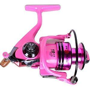 Molinete Pink FB4000 11 Rolamentos 5.2:1 Carretel Em Alumínio - CMIK