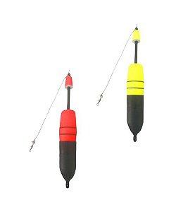 Boia de Arremesso Torpedo porta Ceva 80 gramas Copo Preto - Apoio Pesca