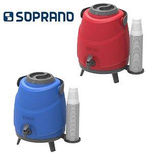 Botijão Térmico Aspen 09 Litros com Tripé e Porta Copo - Soprano