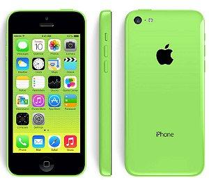 Iphone 5 c Usado com detalhe verde 16gb A1507 Aceitamos notebooks usados