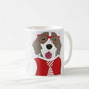 Caneca Pet de Beagle Hipster