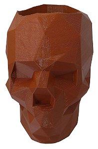 Porta-treco caveira low poly