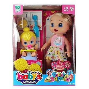 Boneca Babys Collection Papinha Sapeca
