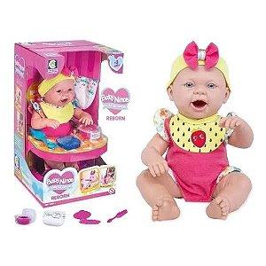 Boneca Baby Ninos - Hora Do Lanche -  Reborn Cotiplás
