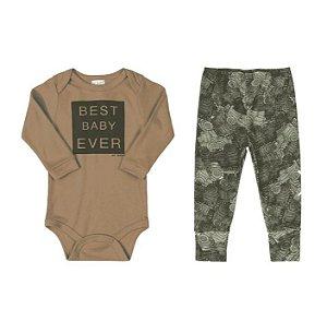 Conjunto Body longo e calça - Best Baby UP BABY