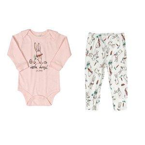 Conjunto Body longo e calça - Coelhinha - UP BABY