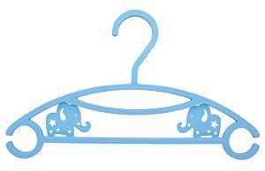 Kit 6 Cabides Elefante - Azul - Clingo