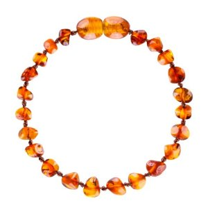 Bracelete de Âmbar Baroque - Conhaque - Bup baby