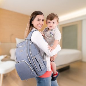 Mochila Maternidade - Azul Jeans - COMTAC KIDS