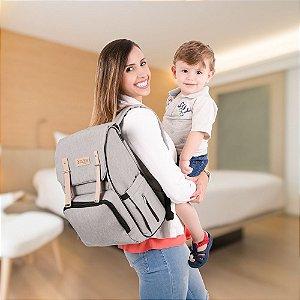 Mochila Maternidade Modelo Style - Cinza - COMTAC KIDS