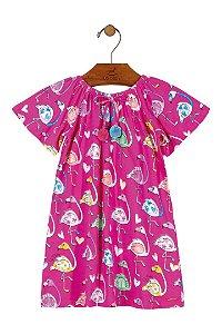 Vestido Midi Flamingo - Rosa - Up Baby