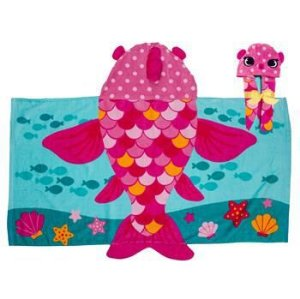 Toalha de Banho com Capuz - Peixe Rosa - Stephen Joseph