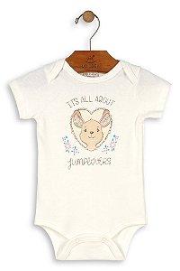 Body Manga Curta - Menina - Canguru - Up Baby