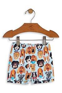 Shorts em Suedine - Cachorros - Up Baby