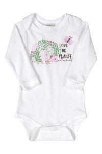 Body Manga Longa - Animais Silvestres - Up Baby
