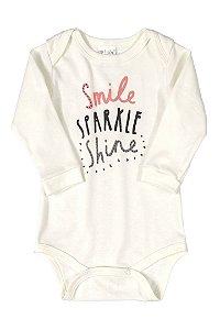 Body Manga Longa - Smile Shine - Up Baby
