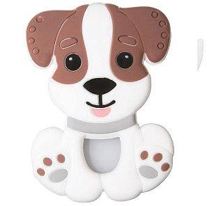 Mordedor de Silicone Cachorro Marrom - Girotondo Baby