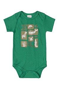 Body Manga Curta - Verde Pimenta - Up Baby