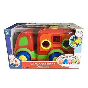 Caminhaozinho Didatico Baby Vermelho - Super Toys - Cotiplás
