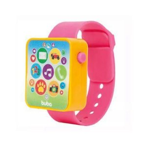 Relógio Musical Bebê Baby Watch - Rosa - Buba