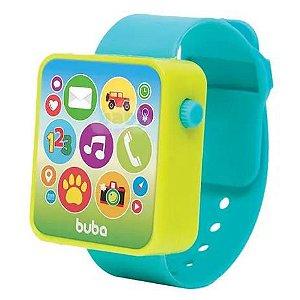 Relógio Musical Bebê Baby Watch - Azul - Buba