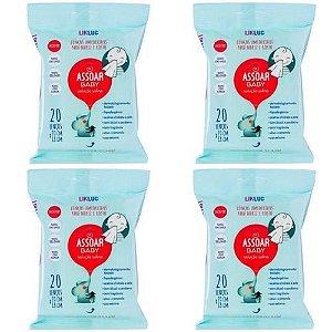 Kit Com 4 Assoar Baby - Lenços Umedecidos Para Nariz -Likluc