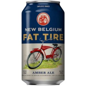 Cerveja New Belgium Fat Tire Amber Ale Lata 355ml