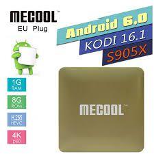RECEPTOR TV BOX MECOOL HM8 S905 1G RAM 8GB