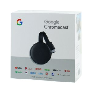 Adaptador Multimídia Google ChromeCast 3 - Full HD - Wi-Fi - Preto