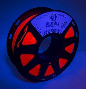Filamento PLA Fluorescente Vermelho