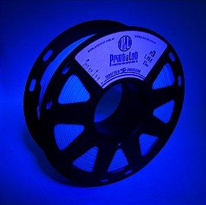 Filamento PLA Fluorescente Azul