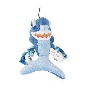 Pelúcia tubarão azul  c/ corda