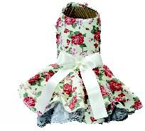 Vestido floral bege - Osso Pet