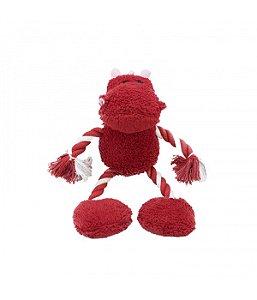 Brinquedo bichinho vermelho para cachorro